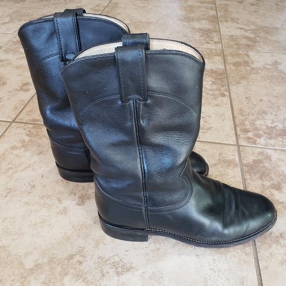 9dc4b55767e Justin's Cora Roper Boots Black Size 5.5 C